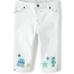 Baby girls Gymboree capris with seahorse. NWT